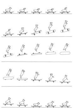 Creative Bingo, Illustration, and 280431 image ideas & inspiration on Designspiration Skateboard Images, Cat Skateboard, Flip Book Template, Graphic Design Illustration, Illustration Art, Conversational Prints, Animation Reference, Stop Motion, Dog Art