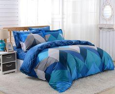 Dolce Mela 6pc Duvet Cover FULL QUEEN Bedding Sheet Set Mykonos Pattern  #DolceMela