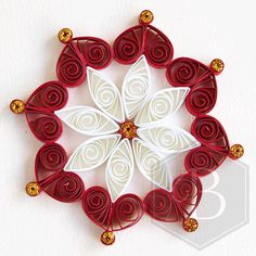 Quilled snowflake tree decoration Christmas by TheBeehiveHandmade