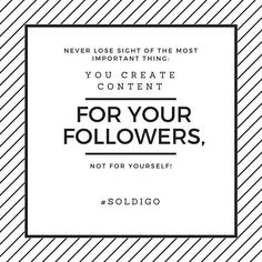 Keep your content interesting and deliver value and see followers and visitors pour in www.soldigo.com #sellonlinewithsoldigo #soldigotipoftheweek #sellworldwide #attractcustomers