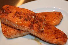 Try our Great American Cajun Seasonings on Salmon!  Tastes great!!