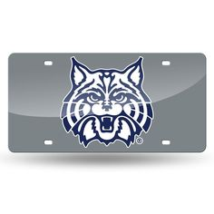 Arizona Wildcats NCAA Laser Cut License Plate Cover Silver