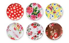 Oh my gosh, I want these SO bad...    Fleamarket Chic Plates S/6