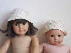 """SOFT /""""POSEABLE/"""" STRAW HAT in CREAM fits American Girl /& Bitty Baby//Twins"""