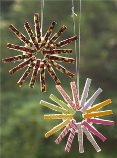 Christmas Clothespin Ornament by modes4u.com #Christmas #crafts #diy