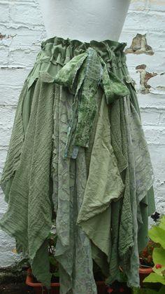 Tattered Upcycled Fairy Skirt Woman's Clothing by BabaYagaFashion
