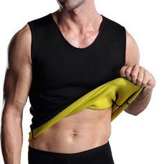 0aef6b21c124 US  9.99 - Mens Fitness Vest High Elastic Body Sculpting Waist Tummy Tuck  Skinny Fit