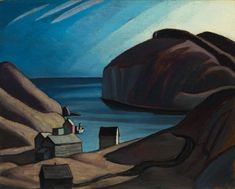 """""""Coldwell, Lake Superior (Lake Superior Sketch CXXXIX),"""" Lawren Stewart Harris, ca. 1925 ~ oil on board, 12 x private collection. Water Lilies Painting, Monet Water Lilies, Lily Painting, Sketch Painting, Street Gallery, Art Gallery, Franklin Carmichael, Tokyo Museum, Group Of Seven"""