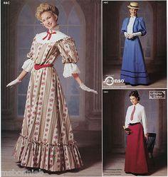 Gibson Girl, Edwardian Dress, Jacket, Petticoat, Skirt - Simplicity 9723 Pattern
