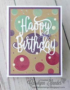 Thinlits Happy Birthday Stampin' Up!