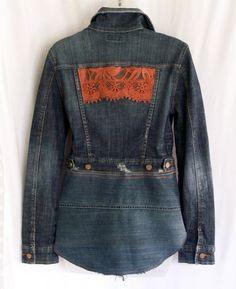 Jean jacket denim jacket women's jean jacket by LamaLuz on Etsy