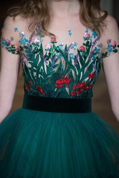 "wollymulch: ""saturdaydreaming: ""Yulia Yanina Spring 2015 Couture "" Wow maybe this is the year I really start feeling something about fashion "" jαɢlαdy Pretty Outfits, Pretty Dresses, Beautiful Dresses, Embroidery Fashion, Embroidery Dress, Evening Dresses, Prom Dresses, Formal Dresses, Couture Fashion"