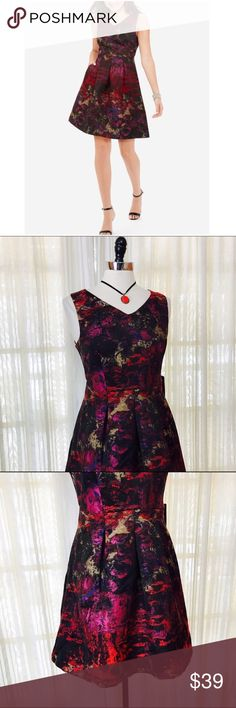 "NEW LISTED🌀The Limited Pleated A-line Dress Size 4. Featured in ""25 Dresses to wear to a Wedding"". This stunning abstract patterned dress has a unique combination of colors, everything from pink to red to blue. The dress has a more formal feel, thanks to its darker hue & pleated skirt style. Rear zipper. Lined. NWT$109.95 (2.11.2)  💟Fast 1-2 day shipping 💟Reasonable offers accepted 💟Purchase 3 or more items & get a special bundle rate!  💟Smoke-free home The Limited Dresses"