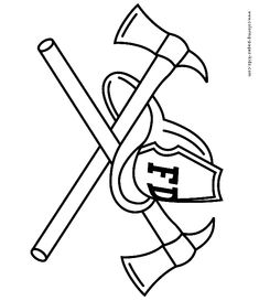 Firefighter Hat Coloring Page  Clipart Panda  Free Clipart
