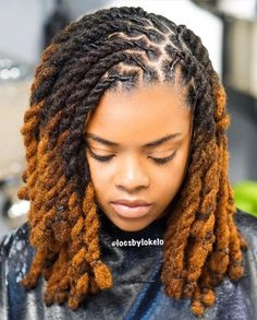 I love everything about this look! Reposted from➡️ ( - Gorgeous RopeTwist & color 😍 ⭐️ Colorist: ⭐️ Stylist: Short Locs Hairstyles, Twist Braid Hairstyles, African Braids Hairstyles, Cool Hairstyles, Black Hairstyles, Protective Hairstyles, Wedding Hairstyles, Natural Dreads, Natural Hair Twists
