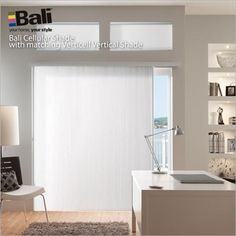 On Sale Now! Bali VertiCell Shades for sliding glass doors. #windows #blinds