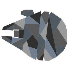 Geometric Millennium Falcon Pattern | Craftsy