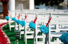 Simple ceremony decorations