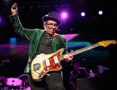 Elvis Costello performs during the Who Cares Benefit For Teen Cancer at The Theater at Madison Square Garden in New York City on February 28, 2013.  Kevin Mazur/WireImage