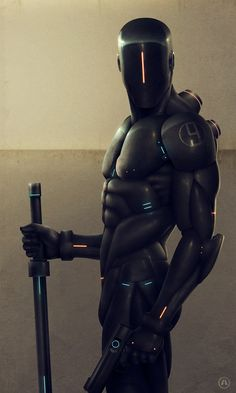 Futuristic, Cyberpunk, Future, Military Robot, Alpha 9 by Anthony Scime join us http://pinterest.com/koztar