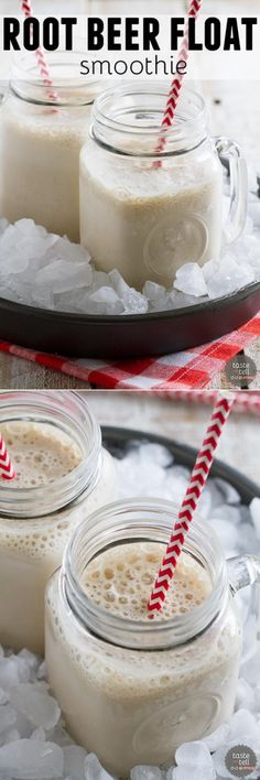 Got a craving for a root beer float but need something a little slimmer?  This Root Beer Float Smoothie hits the spot at just a fraction of the calories of the real deal!