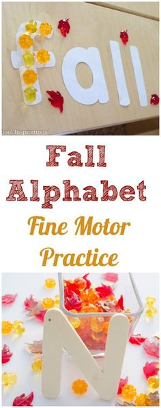 Fall Alphabet Fine Motor Practice - Preschool Inspirations