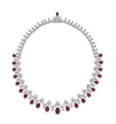 A RUBY AND DIAMOND FRINGE NECKLACE | necklace, diamond | Christie's