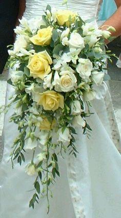 Cascading bouquet -different colors