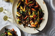 Spiced Chickpeas with Wilted Kale and Roasted Carrots recipe on Food52