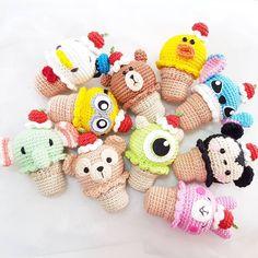 Crochet Keychain Doll Gifts 32 New Ideas Crochet Food, Love Crochet, Crochet Dolls, Crochet Disney, Crochet Cable, Crochet Shell Stitch, Crochet Animal Patterns, Amigurumi Patterns, Crochet Braids