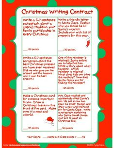 54 Christmas Writing Ideas for Kids