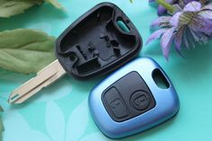 Car Flip Key Shell 2 Buttons Remote Key Fob Case Blank Cover Replacement Fit For Peugeot Citroen 206 106