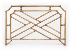 Vintage Chinese Chippendale Bamboo Full size Headboard in Natural from City of Z Design