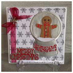 TONIC studios Gingerbread man, Tonic backing papers Sue Wilson Snowglobe Die 2016