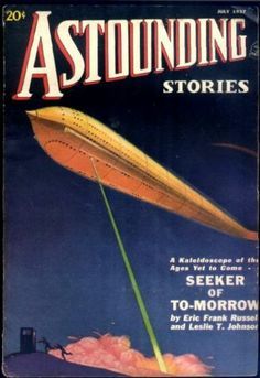 """""""One of the earliest time-travel stories, Seeker of To-morrow by Eric Frank Russell and Leslie J. Johnson, features """"an air-tight time-travel room"""" which is described as """"looking like a very large telephone kiosk"""". The story was first published in the July 1937 issue of Astounding Stories, and the cover of that magazine depicts an object which looks very much like the later TARDIS.'"""