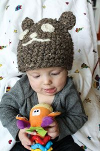 Bear Necessity Hat Digital Crochet Pattern from Love of Crochet magazine's Holiday Crochet 2014 Issue - An adorable teddy bear hat for your baby or toddler
