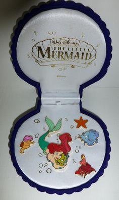 DSF Disney Little Mermaid Ariel Hugging Flounder Seahorse Sebastian Box Pin Set   eBay