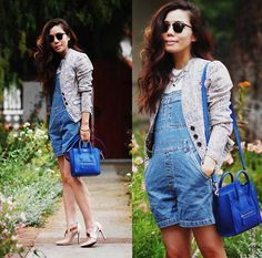 Vintage Overall, Free People Jacket, Celine Bag
