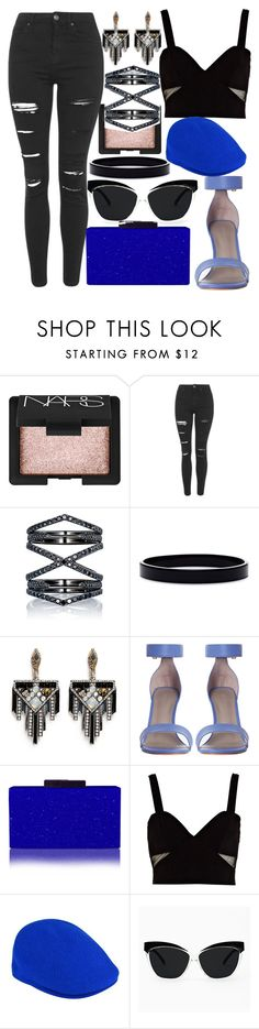 """Bringing Back Blue & Black"" by egordon2 ❤ liked on Polyvore featuring NARS Cosmetics, Topshop, Eva Fehren, L. Erickson, Lulu Frost, River Island, kangol, black, Blue and BlueandBlack"