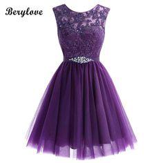 BeryLove Cute Short Homecoming Dresses 2018 Mini Beaded Lace Homecoming  Dress Tulle Homecoming Gowns Cheap Graduation Dresses. Yesterday s price   US  68.67 ... 5038d9306785