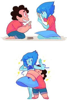 Steven and Lapis Lazuli ||| Steven Universe Fan Art by marineperidot on Tumblr
