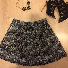 Hinge Skirt LAST CHANCE From Nordstrom! Hinge skirt. Black, white, and pink mini dots overlay to create this skirt's pattern. Hinge Skirts