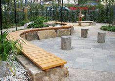 Terrassenbelag 08 Aus Natursteinplatten Terrasse Und Spielplatz Spielterrasse
