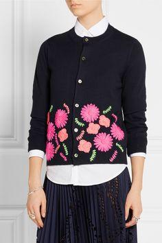 Comme des Garçons GIRL | Embroidered knitted cardigan | NET-A-PORTER.COM