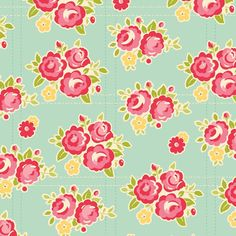 Sidewalks C3481 Teal Floral by October Afternoon for Riley Blake
