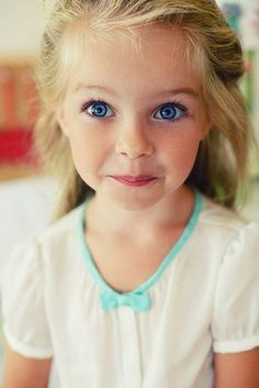 big blue eyes and pretty blonde hair!