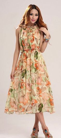 Summer long maxi dress