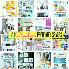20 Inspiring Pegboard Creative Spaces! -- Tatertots and Jello