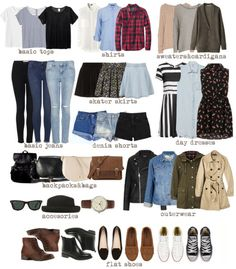 Back To School Casual Capsule Wardrobe Inspiration! Back To School Casual Capsule Wardrobe Inspiration! Simple Outfits For School, School Outfits Tumblr, Mode Outfits, Fall Outfits, Casual Outfits, Basic Outfits, Back To College Outfits, Back To School Clothes, Back To School Outfits Highschool