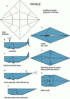 Whale Origami.